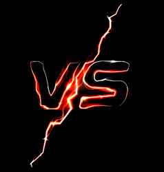 versus vs logo battle headline template vector image