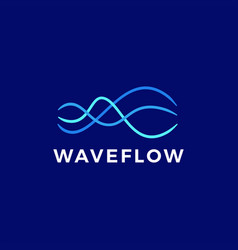 wave flow stream logo icon vector image