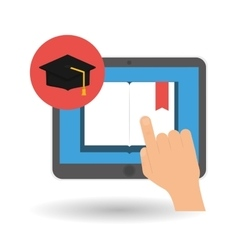 Flat about graduation design vector image