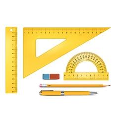 Ruler instruments vector image