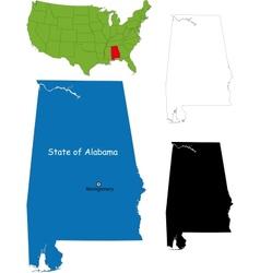 Alabama map vector image