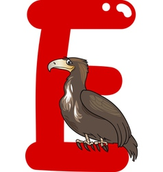 E for eagle vector image