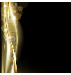 Luxury background blackand gold vector