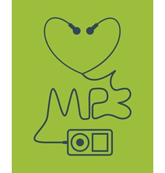 MP3 vector image vector image