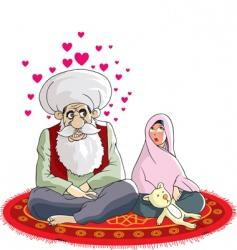 Muslim wedding vector image