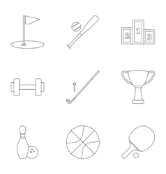 Accessories for training icons set outline style vector image vector image
