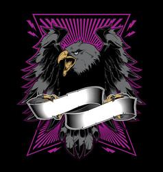 falcon with ribbon vector image