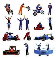 Race Icons Set vector image