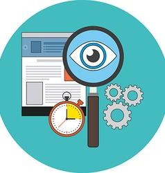 Search optimization concept Flat design Icon in vector image