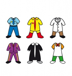 career costumes vector image vector image