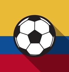 football icon with Colombia flag or Ecuador flag vector image