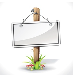 Signs Board with Wire rope hanging on a nail vector image