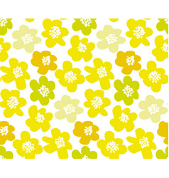 sunny lemon color summer floral in retro 60s style vector image vector image