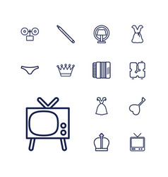 13 classic icons vector