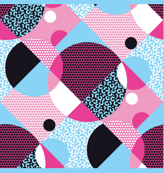abstract geometric shapes seamless pattern vector image