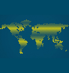 abstract halftone world map vector image