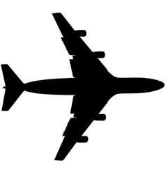 Airplane silhouette jet plane icon vector