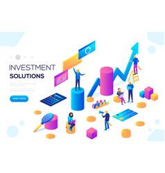 analysis sales statistic grow data accounting vector image