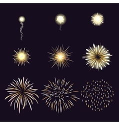 animation firework effect in cartoon comic vector image