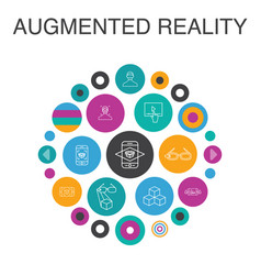 Augmented reality infographic circle concept vector