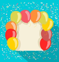 Balloons card vector