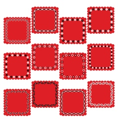 Bandana square labels vector