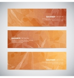 Banners with abstract colorful triangulated vector image