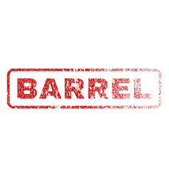 barrel rubber stamp vector image