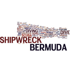 Bermuda shorts text background word cloud concept vector