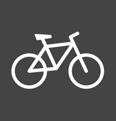 bike icon on grey background bicycle in flat vector image