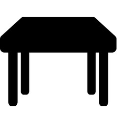 black table icon isometric black table vector image