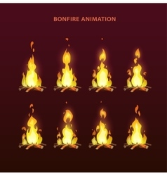 bonfire animation sprites vector image