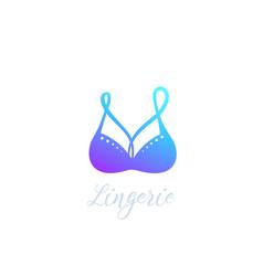 bra lingerie logo icon vector image