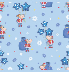 bull 2021 calf santa claus festive winter vector image