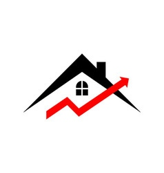 Business graph real estate growth progress icon vector