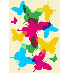 Butterflies spring pattern vector image