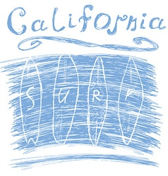 California surf typography t-shirt Printing design vector