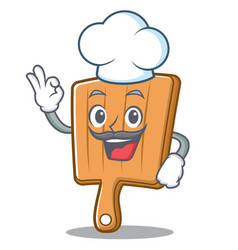 Chef kitchen board character cartoon vector