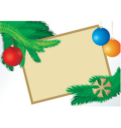 christmas fir picture vector image