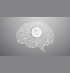 circuit board brain vector image