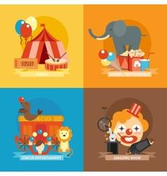 Circus Flat Set vector image