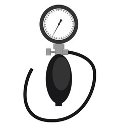 Clipart tonometer in black and vector