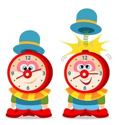 Clown alarm clock vector