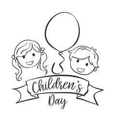 collection style childrens day hand draw vector image