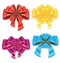 Colour bows vector