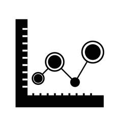 contour statistics graphic diagram with data line vector image