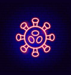 Coronavirus virus neon sign vector