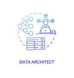 Data architect blu gradient concept icon it expert vector