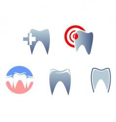 Dental signs vector