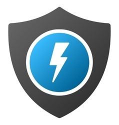 Electric Guard Gradient Icon vector